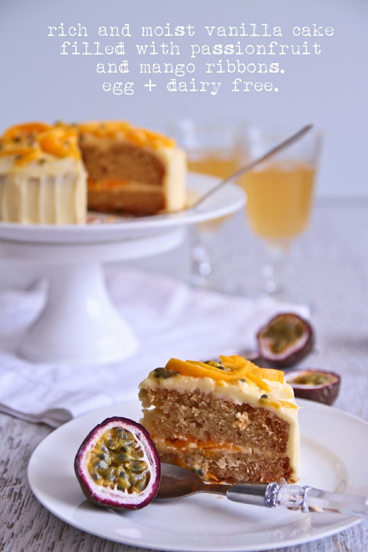 Vanilla Vegan Cake With Mango Amp Passionfruit Egg And