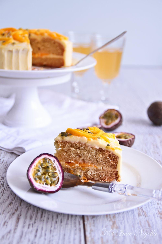 Vegan Mango Cake With Passionfruit Icing