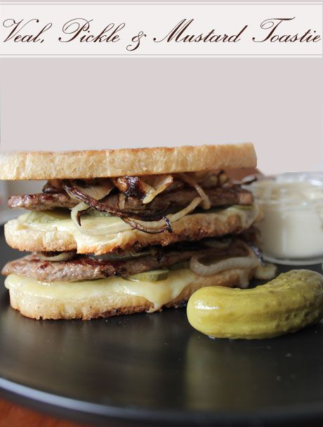 veal toastie, toasted sandwich recipe