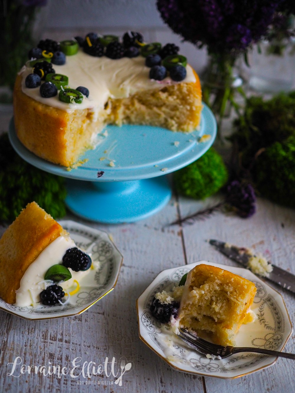 Vegan Lemon Coconut Cake