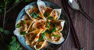 Good Chives Only! Vegan Pumpkin Red Curry Dumplings
