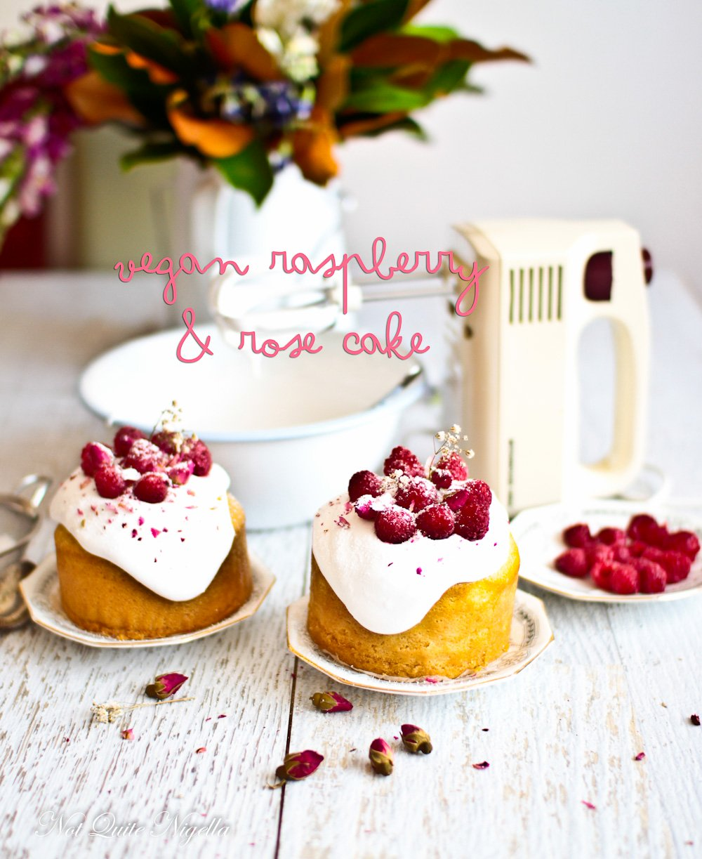 Vegan Raspberry Rose Cake
