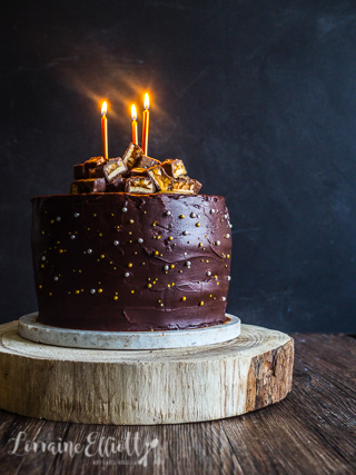 Outstanding Vegan Snickers Cake Chocolate Peanut Butter Cake Not Quite Nigella Funny Birthday Cards Online Hetedamsfinfo