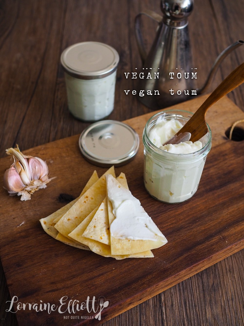 Vegan Toum or Lebanese Garlic Sauce