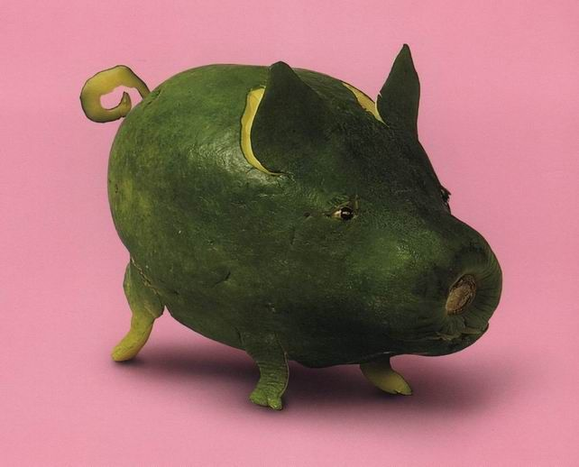 Green Papaya pig