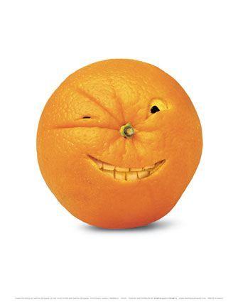 Orange winking
