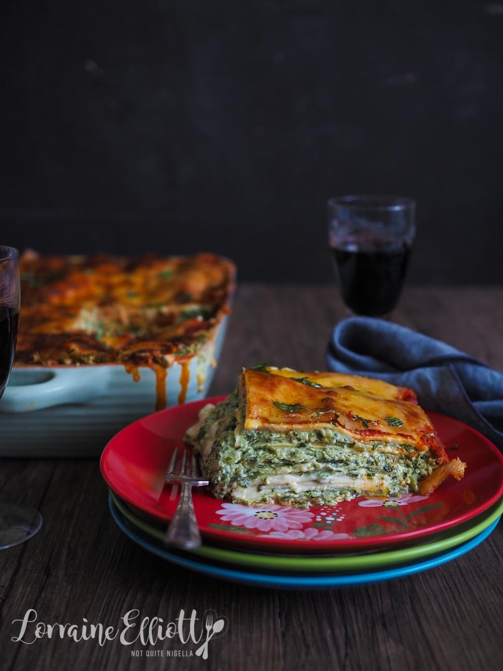 Spinach Cheese Lasagna Lasagne