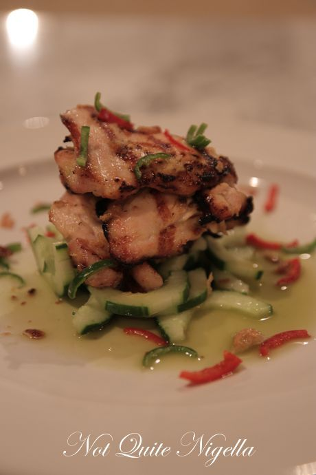 Balinese BBQ Chicken with green chilli and lime dressing