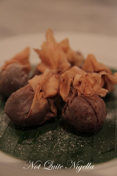 Chocolate samosas @ villa sungai bali