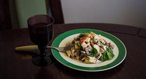 Smoked Chicken & Kohlrabi Waldorf Salad