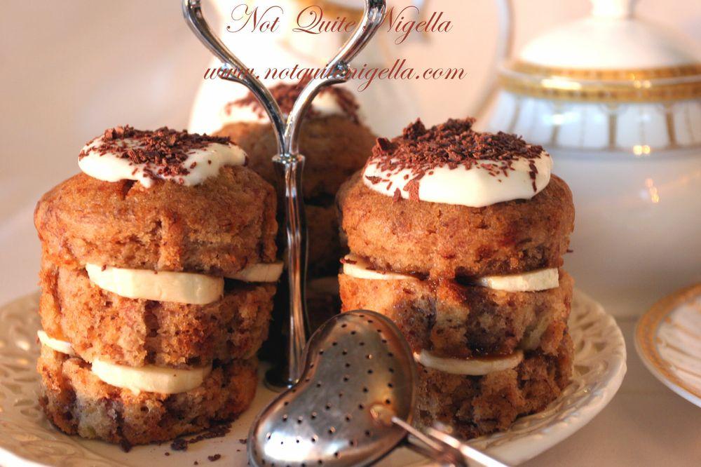 "Banana & caramel ""Almost Bannoffee"" cupcakes wallpaper"