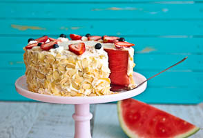 The Amazing Watermelon Cake!