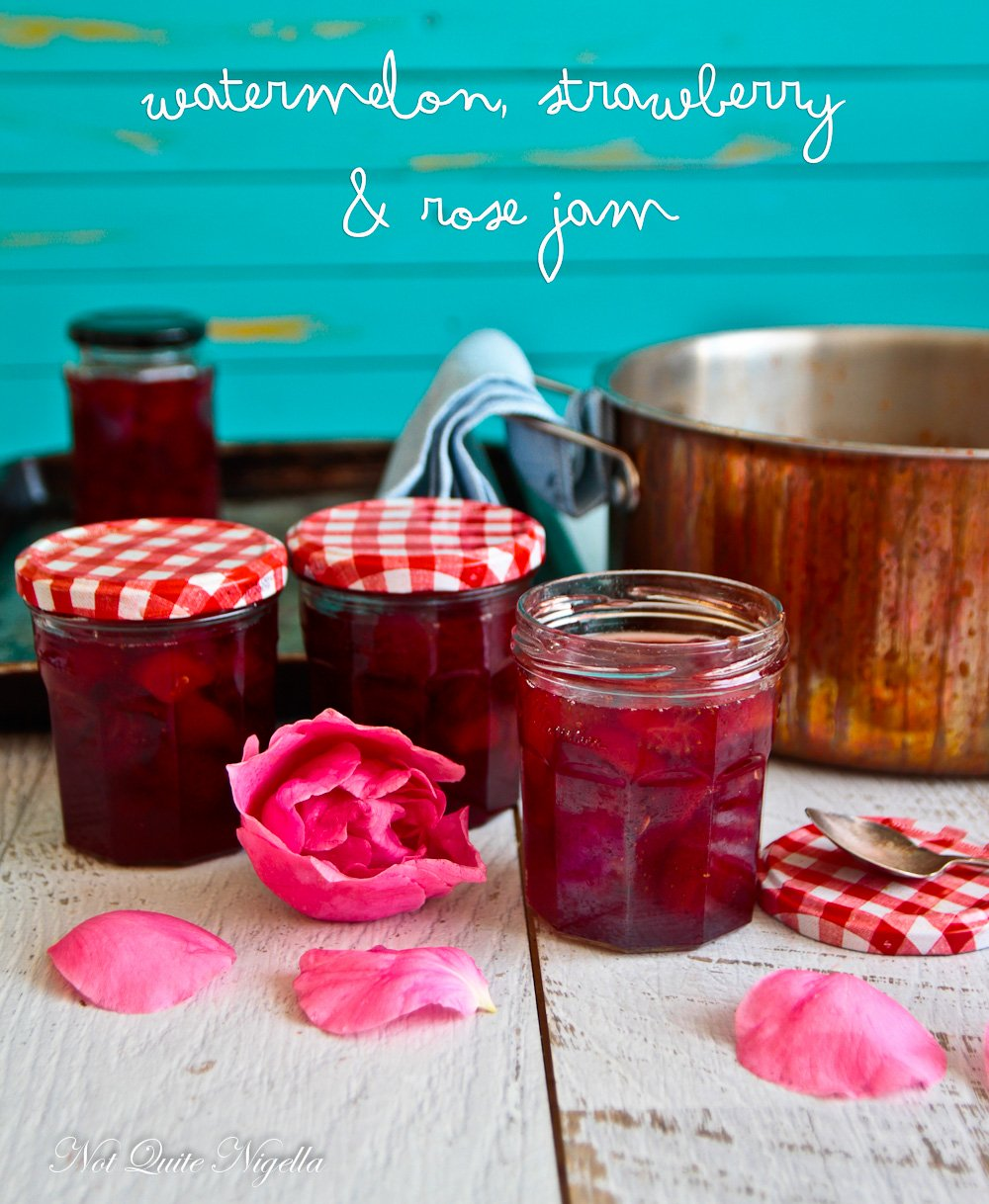 Watermelon Strawberry Rose Jam