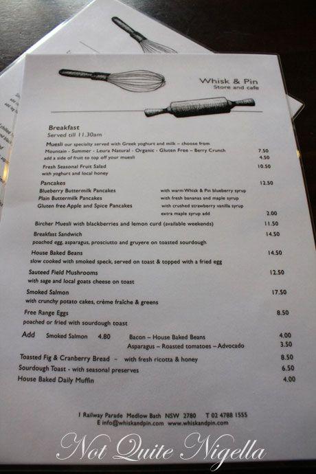 whisk pin cafe shop menu