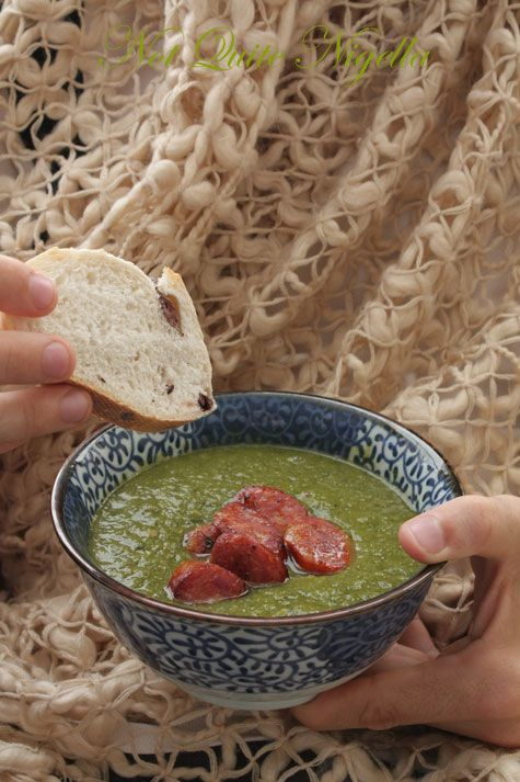 White Bean & Spinach Soup with Chorizo
