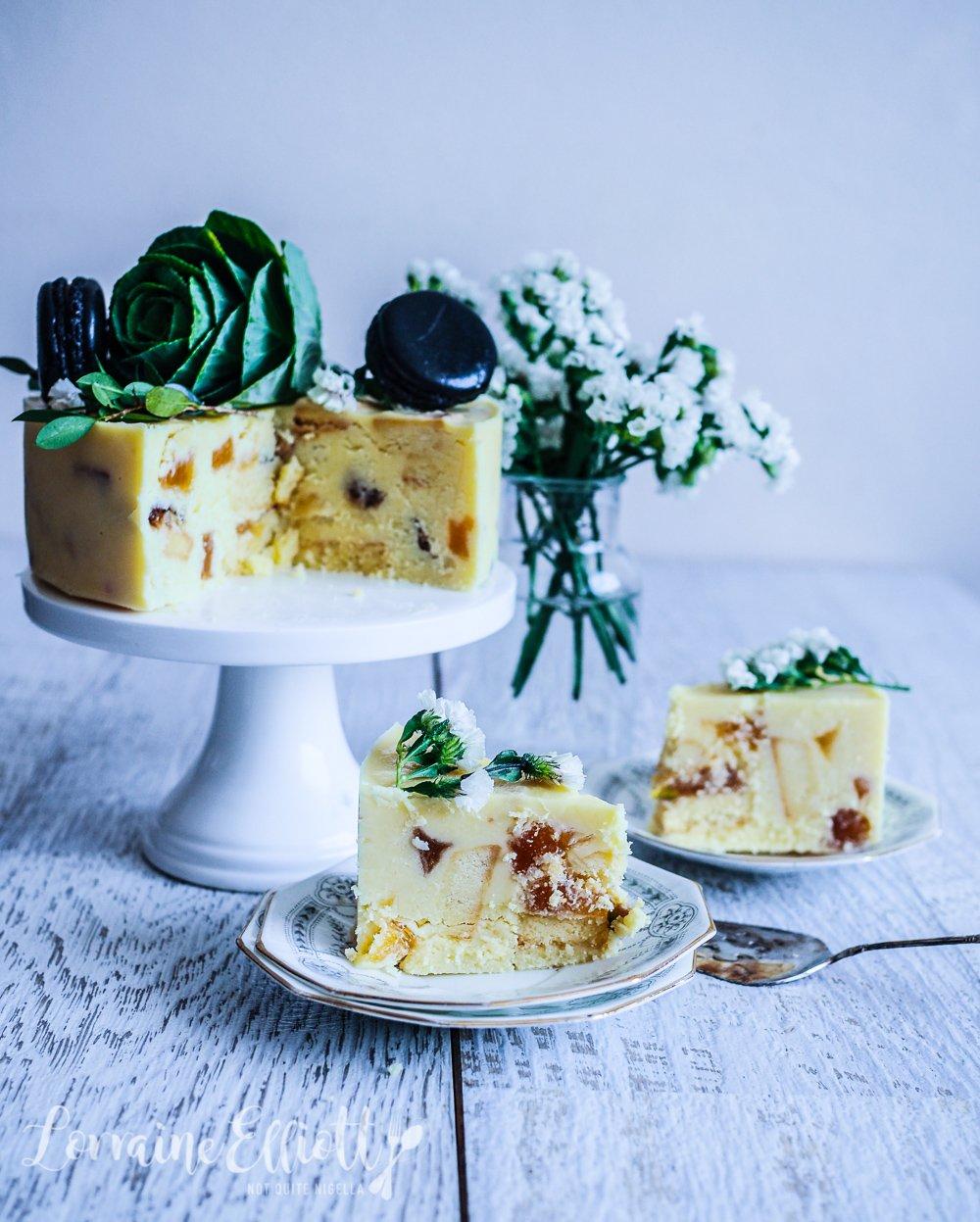 White Chocolate & Ginger Crunch Cake