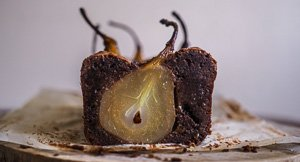 Whole Spiced Pear & Chocolate Loaf Cake {Gluten Free!}