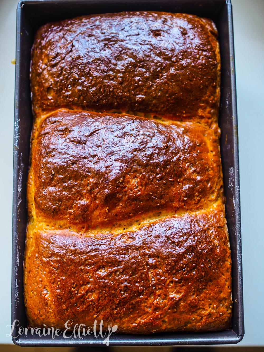 Soft Wholemeal Honey Milk Bread Loaf @ Not Quite Nigella