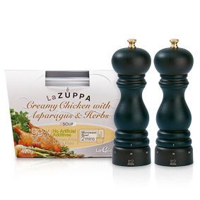Win 1 of 5 La Zuppa & Peugeot Mill Sets!