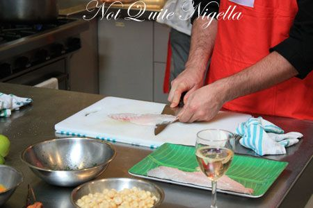 peruvian cooking class filleting