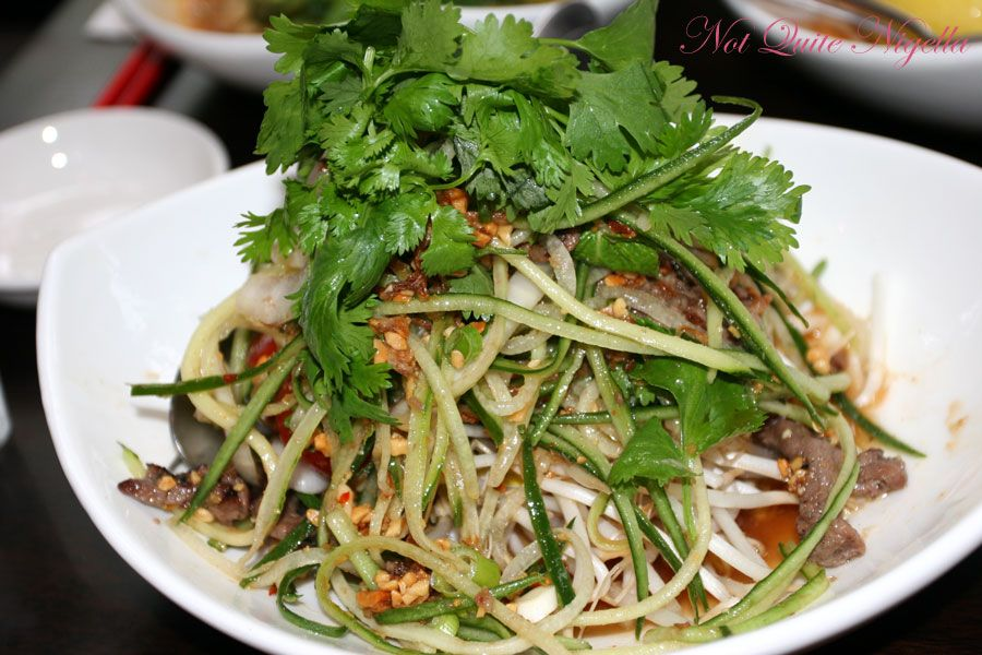 Wockbar at Neutral Bay Thai Beef salad