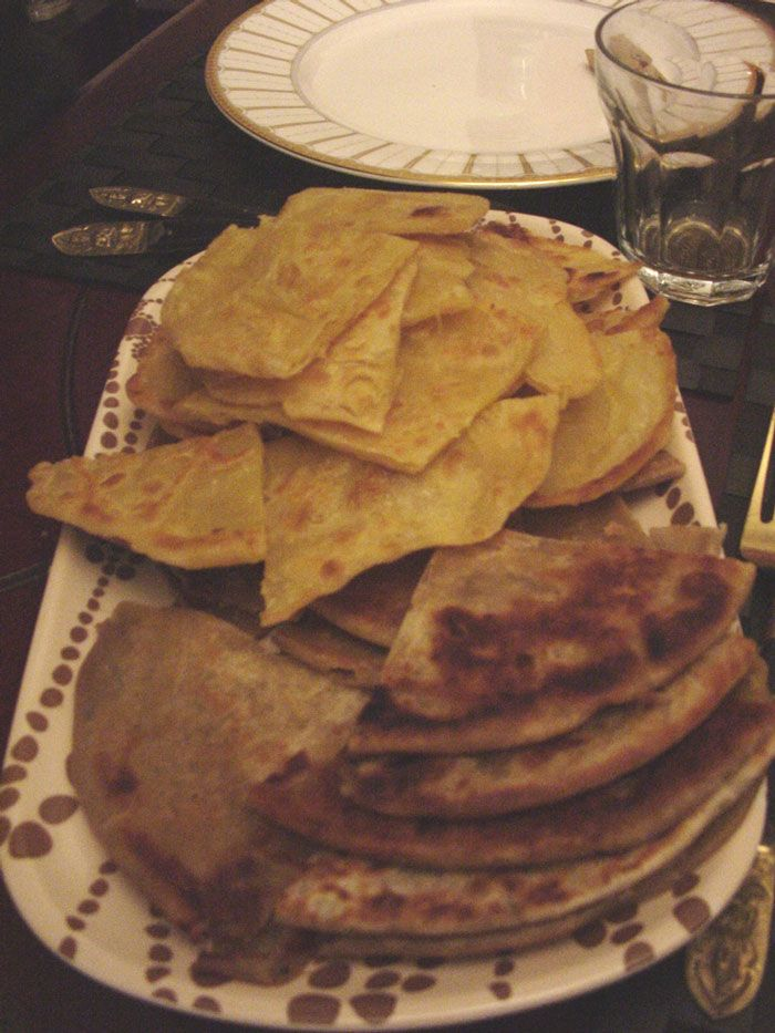 Worldwide food night-Indian Home made Roti and Onion Paratha