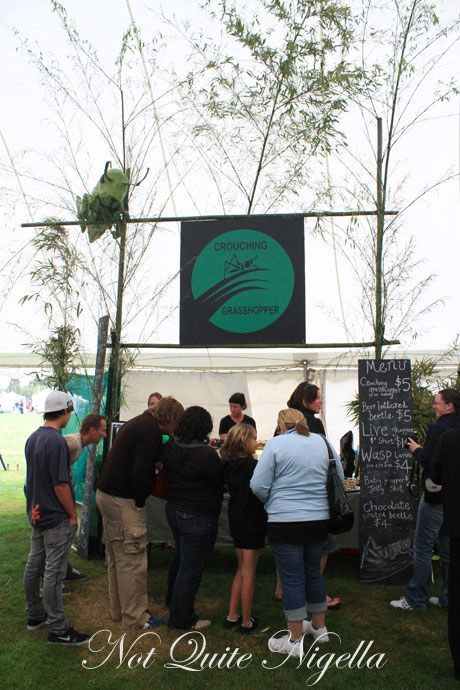 Worm Sushi, Huhu Grubs & Grasshoppers - Hokitika Wild Foods Festival, New Zealand