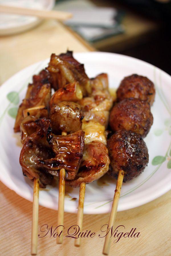 Yakitori Alley Yurakucho Chicken nankotsu, meatball