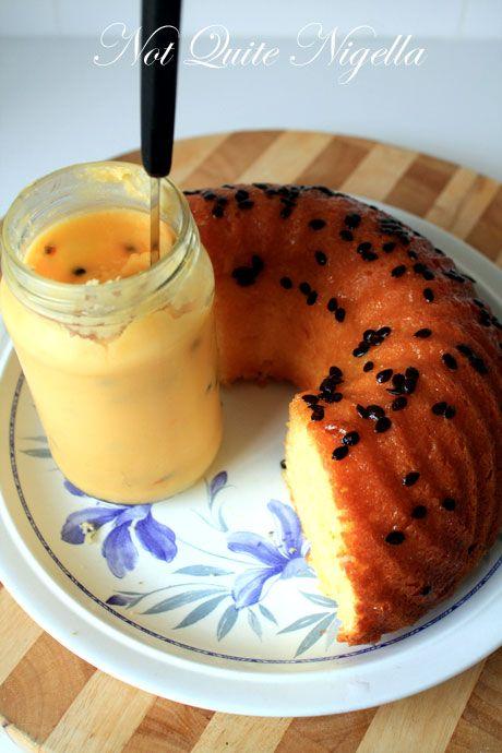 yoghurt passionfruit cake