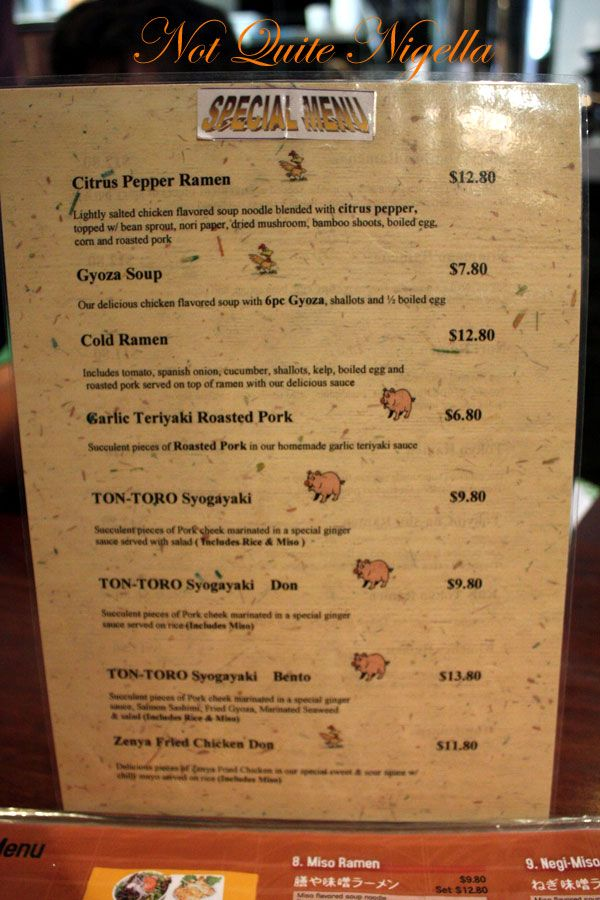Zenya Noodle Bar, Eastwood