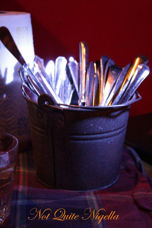 Zetor tractor restaurant helsinki finland  cutlery pail