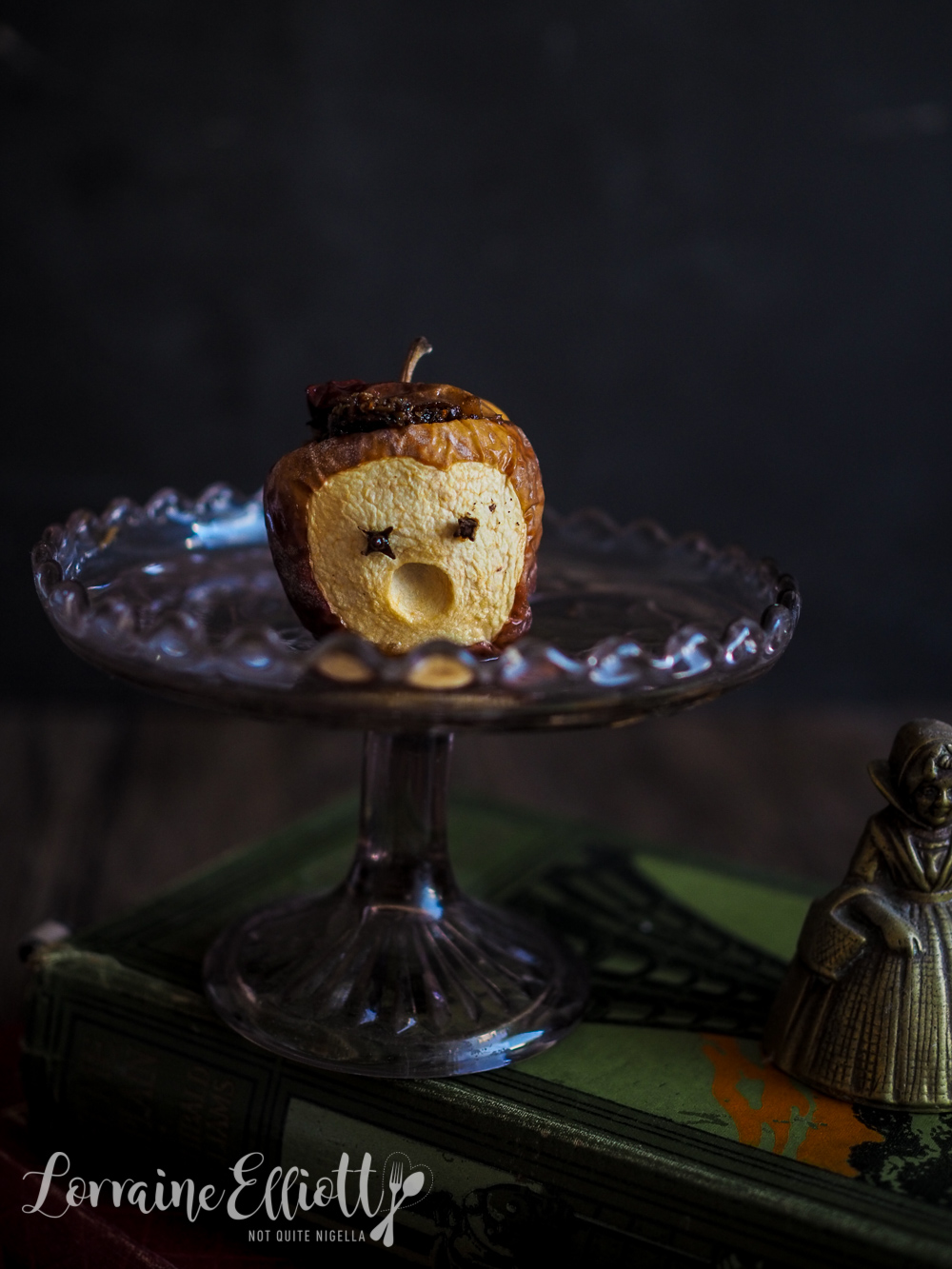 Baked Zombie Head Apples
