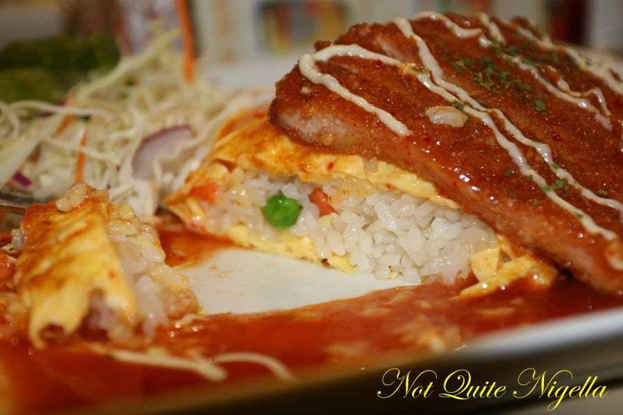 Zowa cafe at World Square Pork Cutlet Omurice