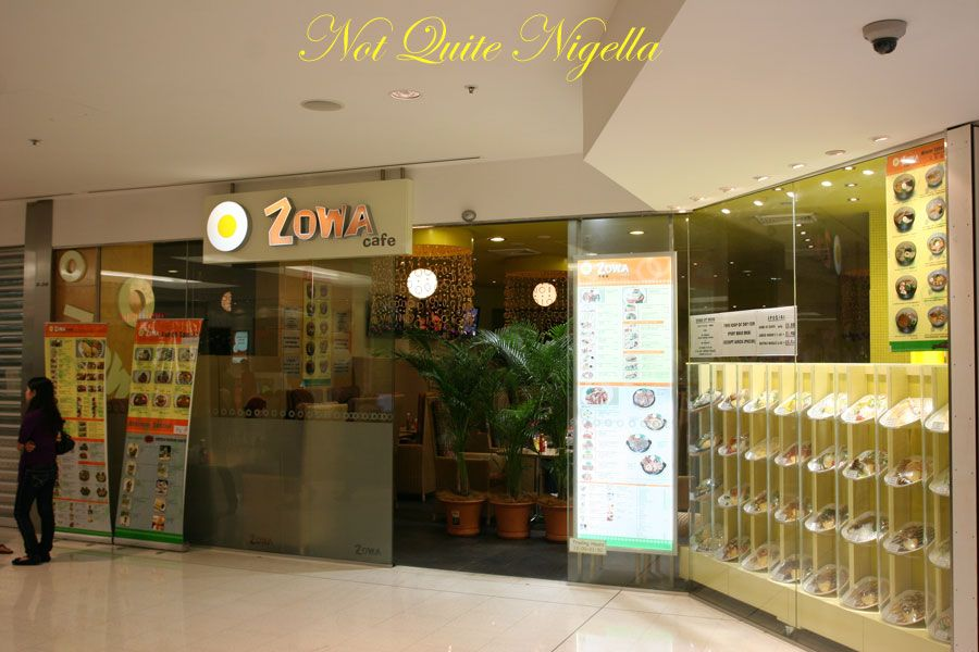 Zowa cafe at World Square