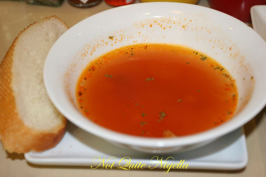 Zowa cafe at World Square soup of the day