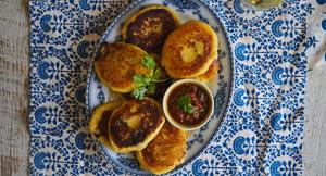 AMAZING Mushroom Stuffed Potato Zrazy With Satsibeli {Vegan}