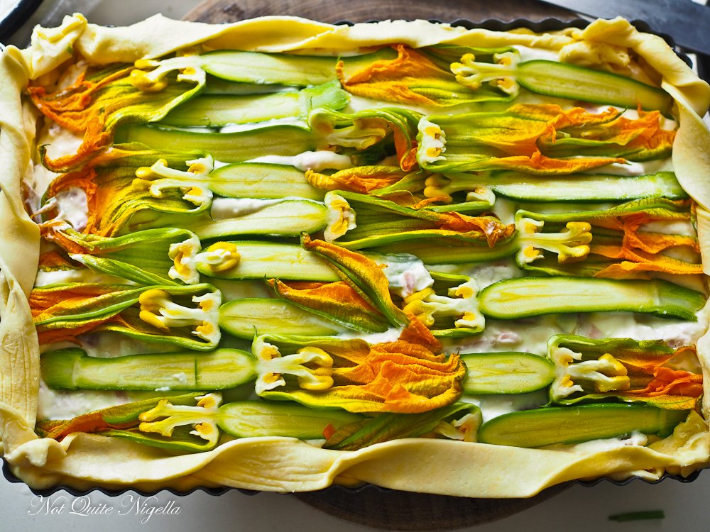 Zucchini Flower Tart Recipe Italian