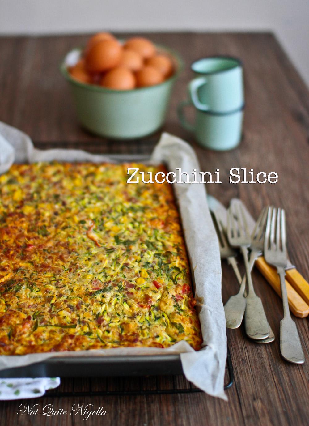 Zucchini Slice Not Quite Nigella