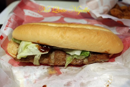 Lotteria Burger Pork rib