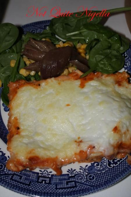 a lean cuisine beef lasagne